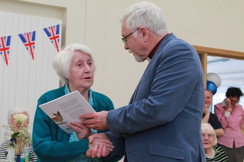 Barbara Smith aged 100 receives her copy first