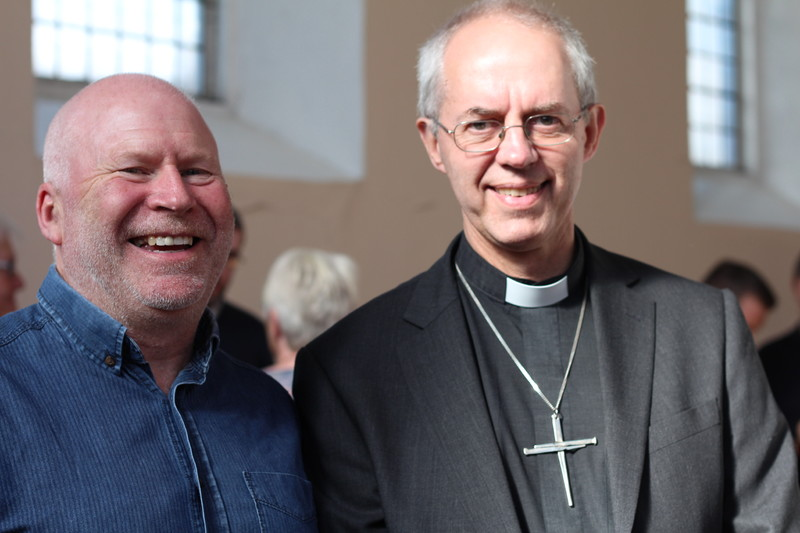 Archbishop Welby with Revd Adrian McCartney