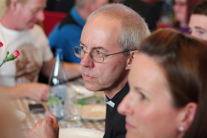 Archbishop Welby hears some real life stories