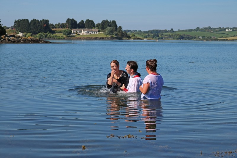 and up from the waters of baptism