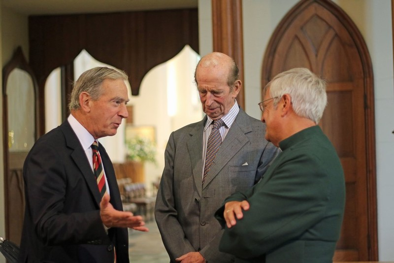 Lord Lieutenant Mr David Lindsay with the Duke and Dean Hull