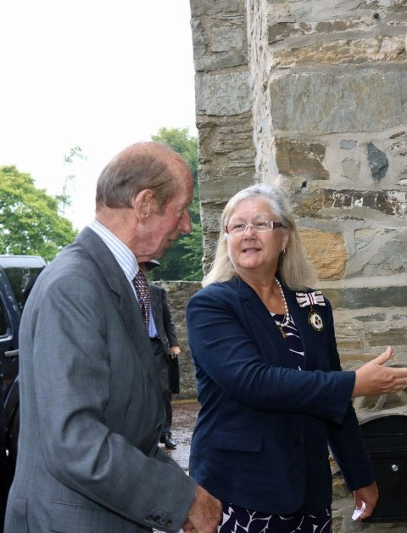 Mrs Sally King greets HRH The Duke of Kent