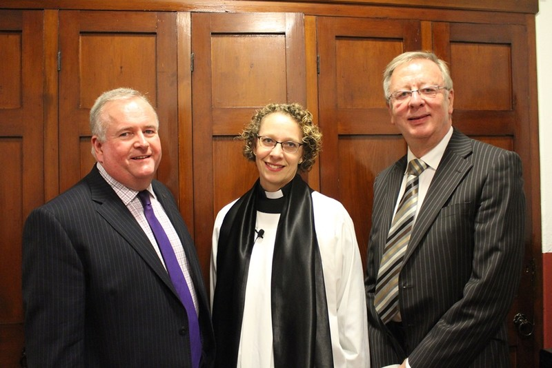 Rectors Churchwarden Brian Kennedy, Revd Steed and Peoples Churchwarden Maurice Frew