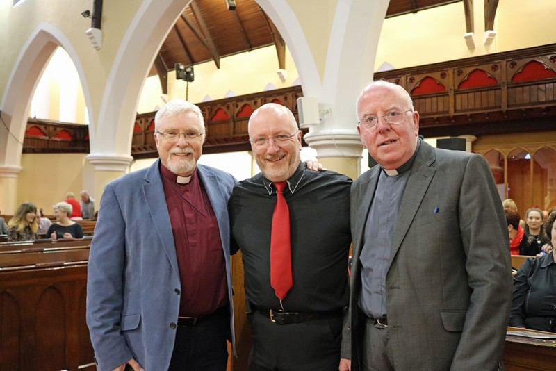 Bishop Harold and Bishop John McAreavey with Kerygmas Norman Gibson
