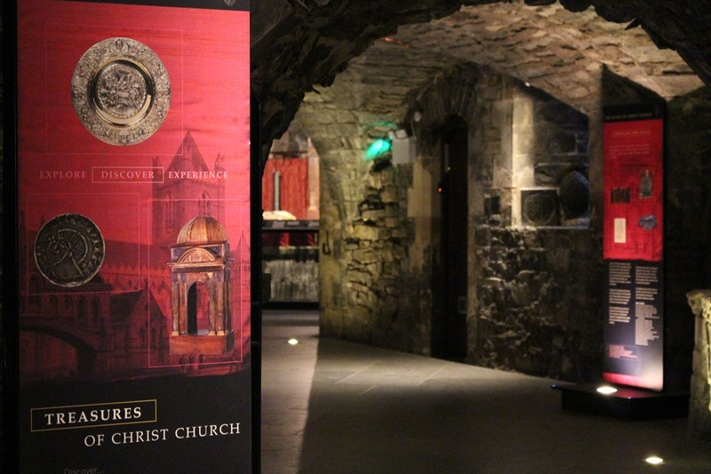 Display in the Cathedral crypt