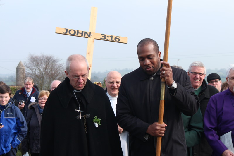 Walking with Albany guest Revd Kino Vitet