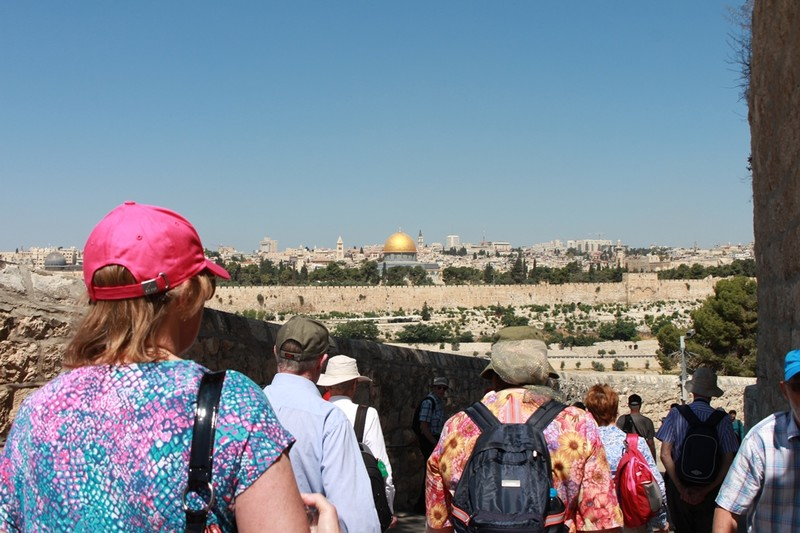 Descending the Mount of Olives