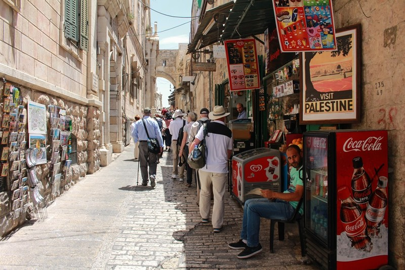 Group on Via Dolorosa
