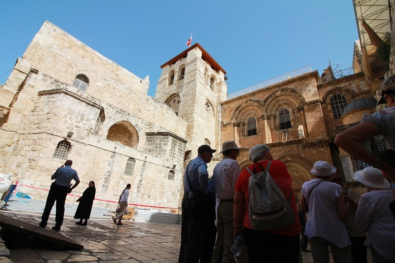 Outside Church of the Holy Sepulchre