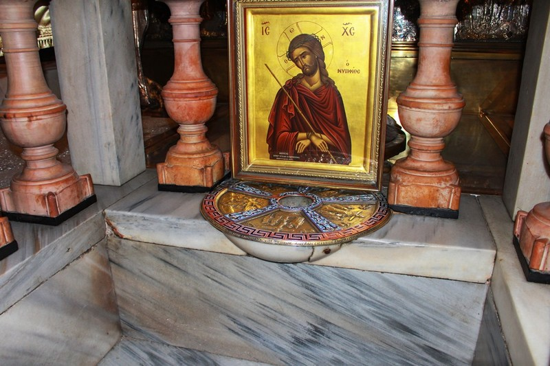 Site of cross at Church of the Holy Sepulchre