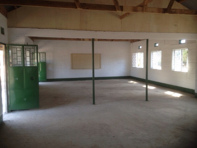 Finished classroom block