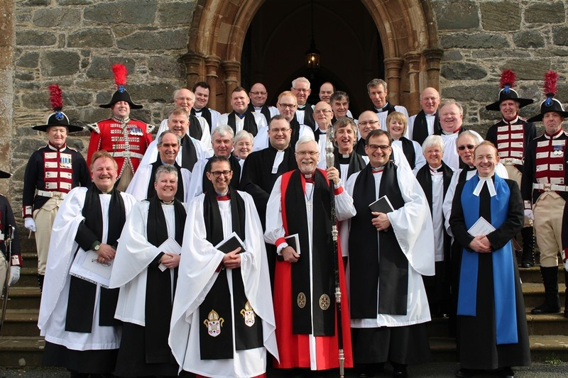 All the clergy in attendance