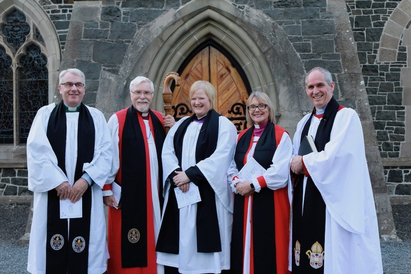 Archdeacon David, Bishop Harold, Revd Catherine, Bishop Pat and Archdeacon Roderic