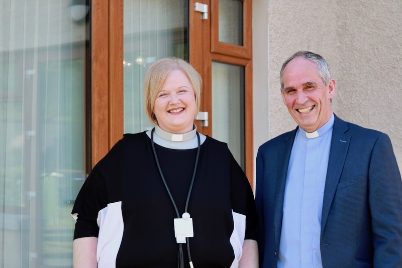 Revd Catherine and Archdeacon Roderic at the vicarage