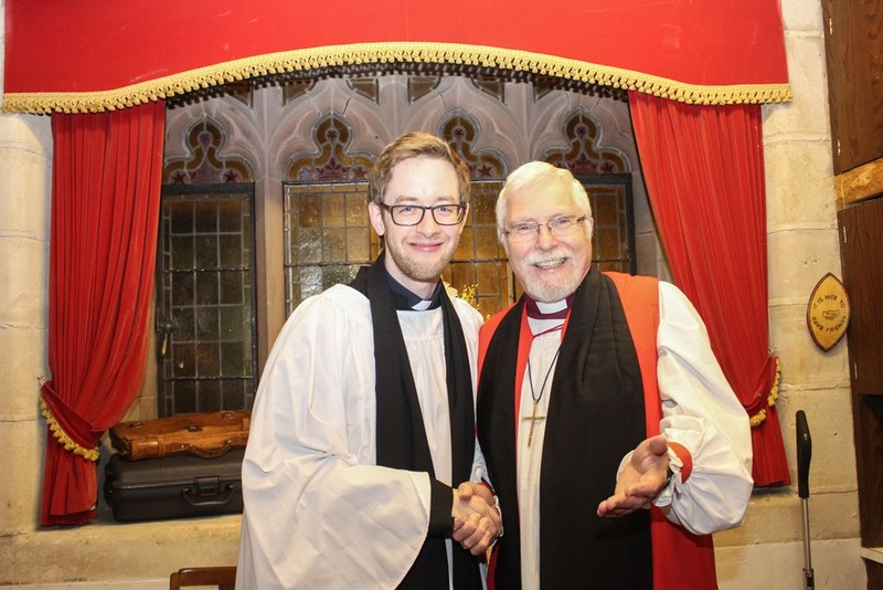 Revd Simon Genoe and Bishop Harold