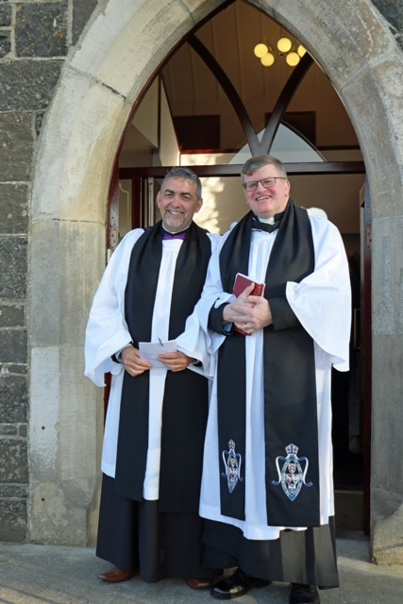 Geoffrey and his preacher Canon Gareth Harron