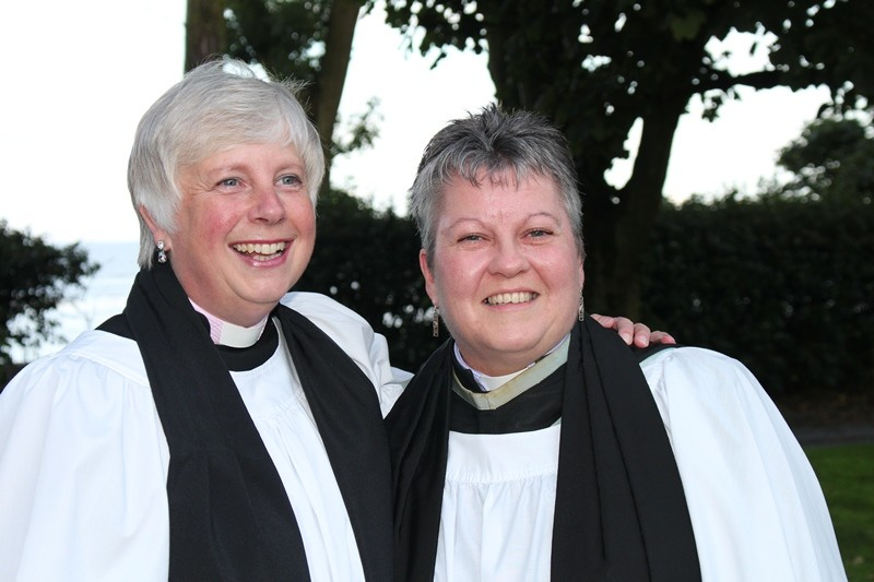 Revd Sue Bell and Area Dean Revd Gill Withers