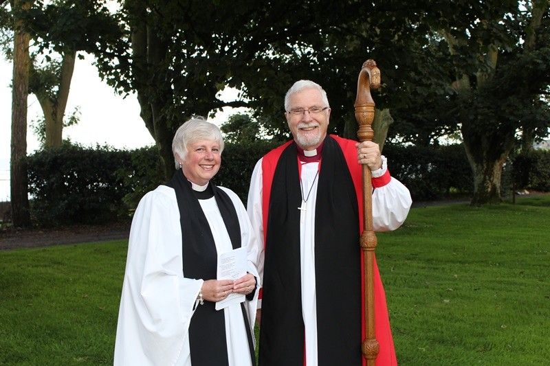Revd Sue Bell and Bishop Harold Miller