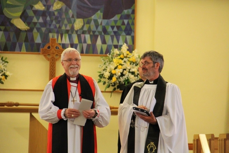 Bishop Harold with Revd Ian