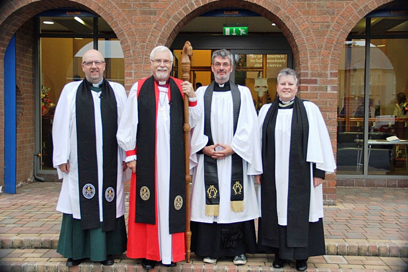 Canon Mark Harvey Bishop Harold Revd Ian and Revd Gill Withers