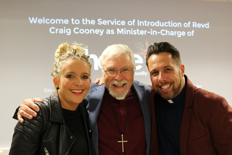 Craig and Becky with Bishop Harold