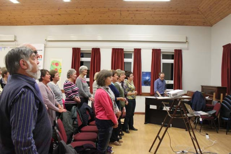 Community Choir in rehearsal
