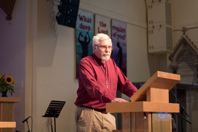Bishop Harold opens the Bible Week