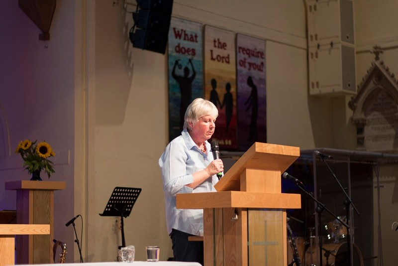 Revd Sue Bell leads the intercessions
