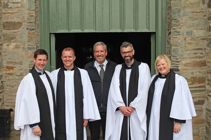 David Parker with the new presbyters priests