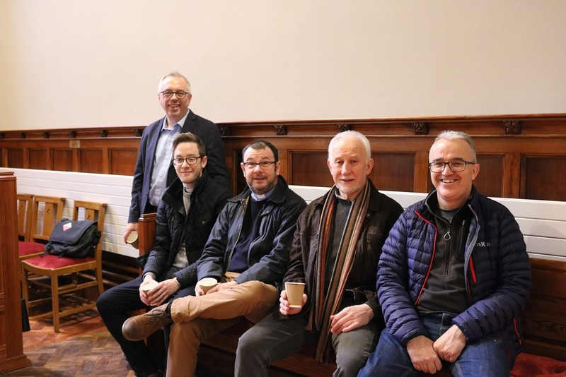 Desi Cairns (Architect), Revd Simon Genoe (Rector) Revd Carlton Baxter (Curate),Terry Nicholson and Peter (Glebe Wardens)