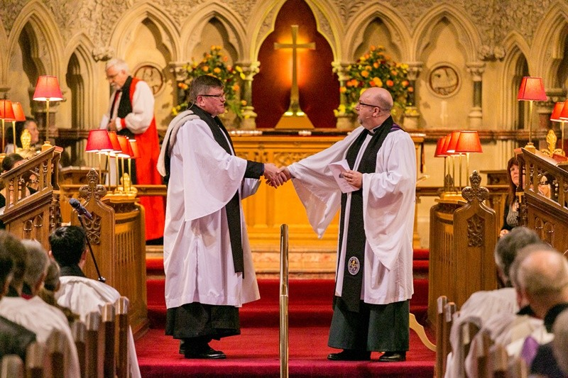 Canon Mark Harvey welcomes Gareth to the Area Deanery