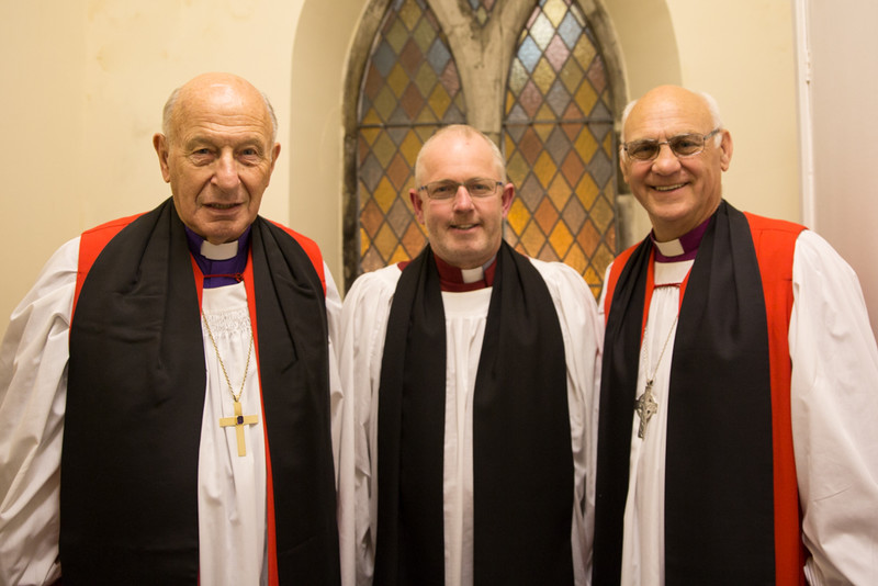 Bishop Ned Darling, Revd Geoff Wilson and Bishop Ken