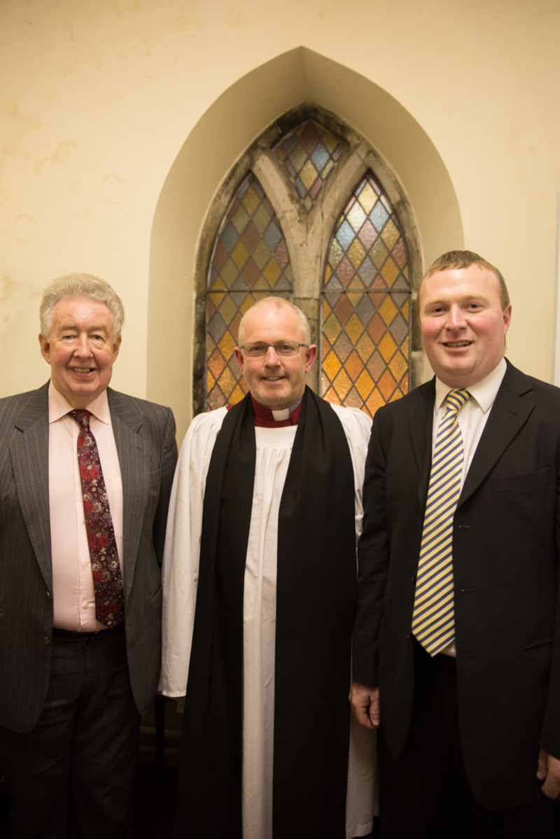 Geoff with the churchwardens