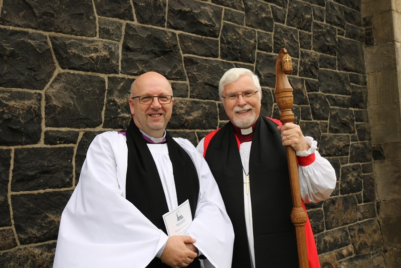 The new rector with Bishop Harold