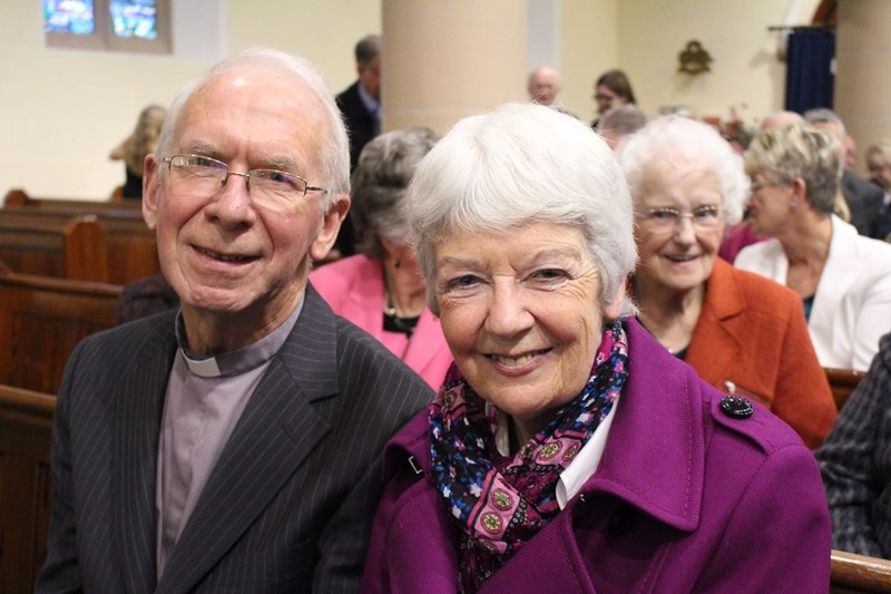 Former Curate Archdeacon Cecil and Mrs Hilary Pringle