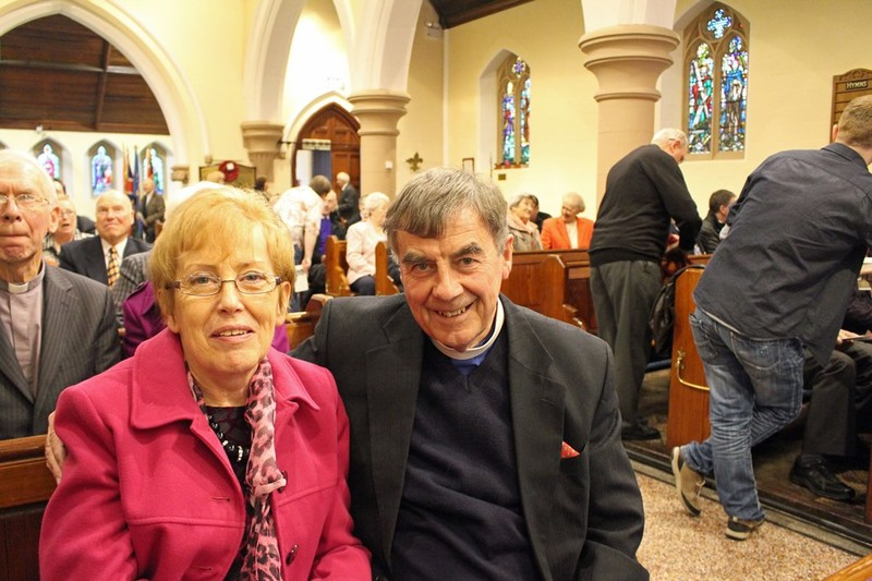 Former Curate Revd David and Mrs Daphne Coe