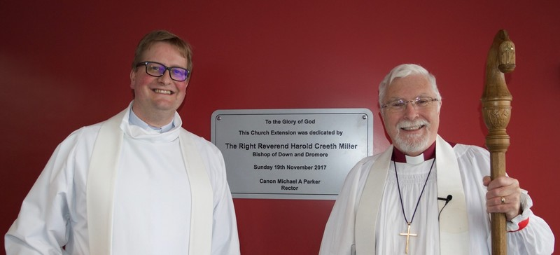 Canon Michael and Bishop Harold after the dedication