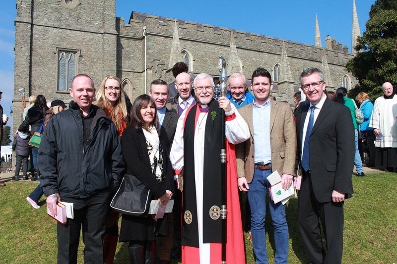Bishop Harold with the Diocesan Evangelists
