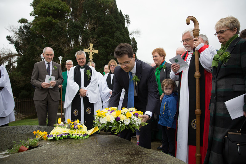 James Brokenshire lays the wreath