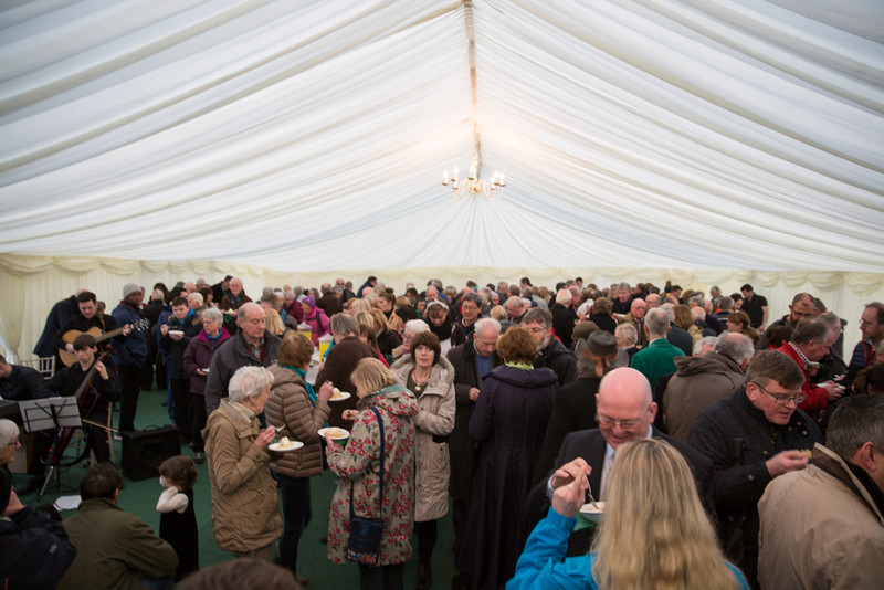 Marquee packed for lunch