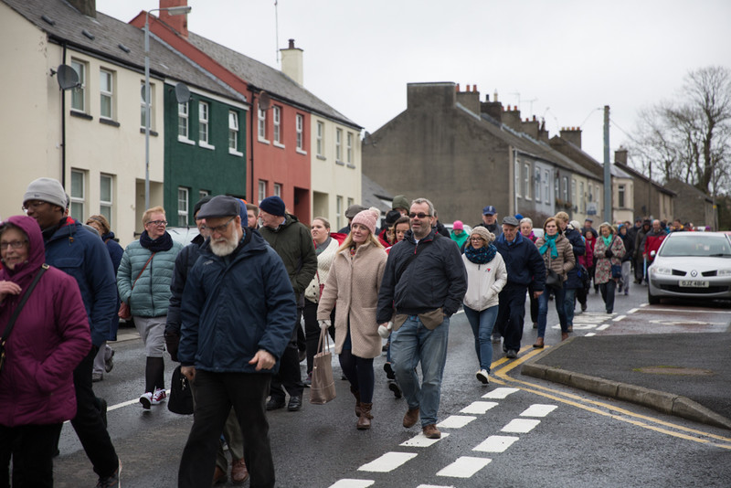 Walking through the streets of Downpatrick