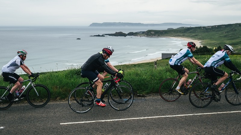The North Antrom Coast road is beautiful, but gruelling