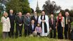 Rector with group including wardens architect builder and Deputy Mayor