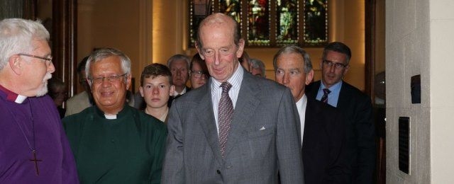 Duke of Kent visits Down Cathedral